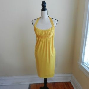 Yellow Halter Cocktail Dress by Laundry